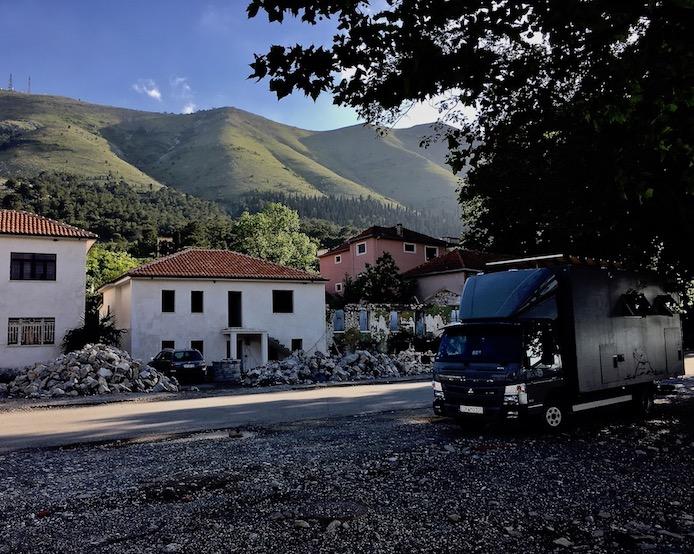 mole-on-tour Wohnmobile-Stellplatz am Restoran Shkodra in Shiroke am Skutariesee Albanien