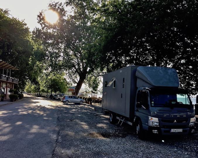 mole-on-tour Wohnmobile-Stellplatz am Skutariesee in Albanien