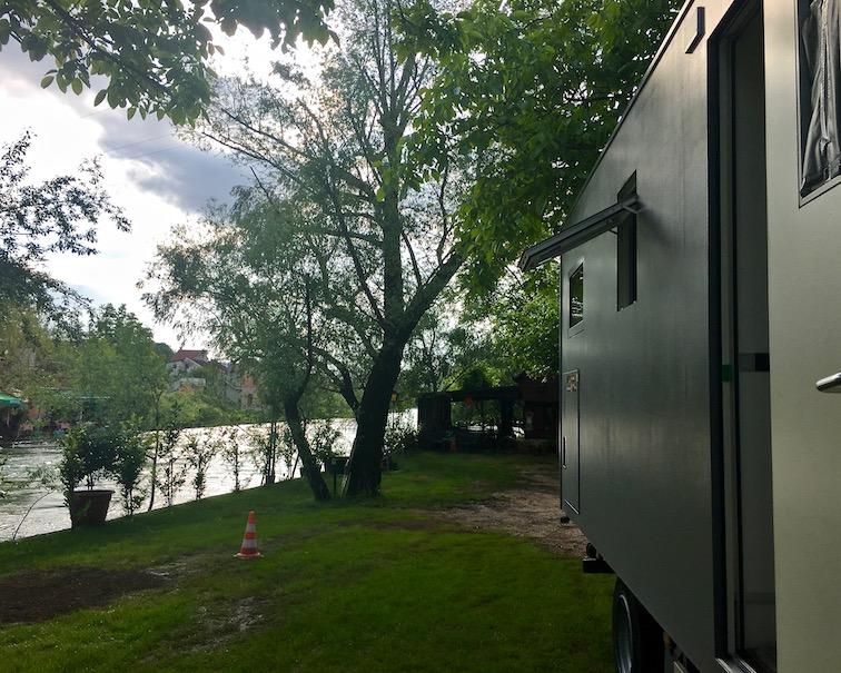 mole-on-tour Wohnmobilstellplatz im River-Camp-Aganovac Blagaj Bosnien-Herzegowina