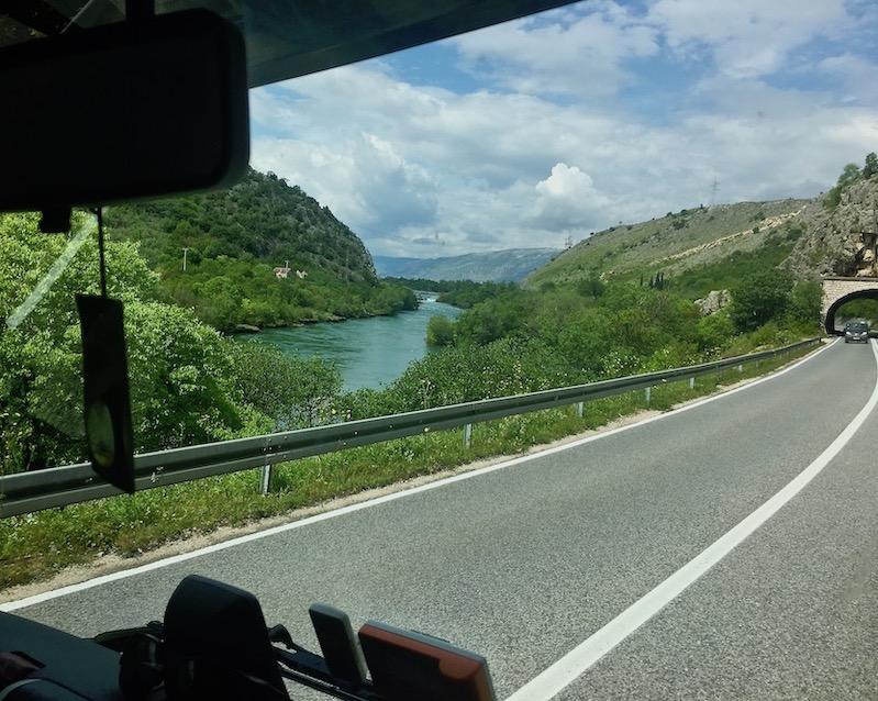 neben der Neretva nach Mostar Bosnien-Herzegowina
