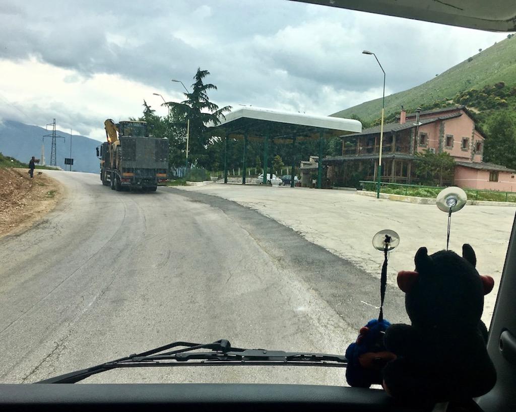 Über den Muzina Paß Albanien