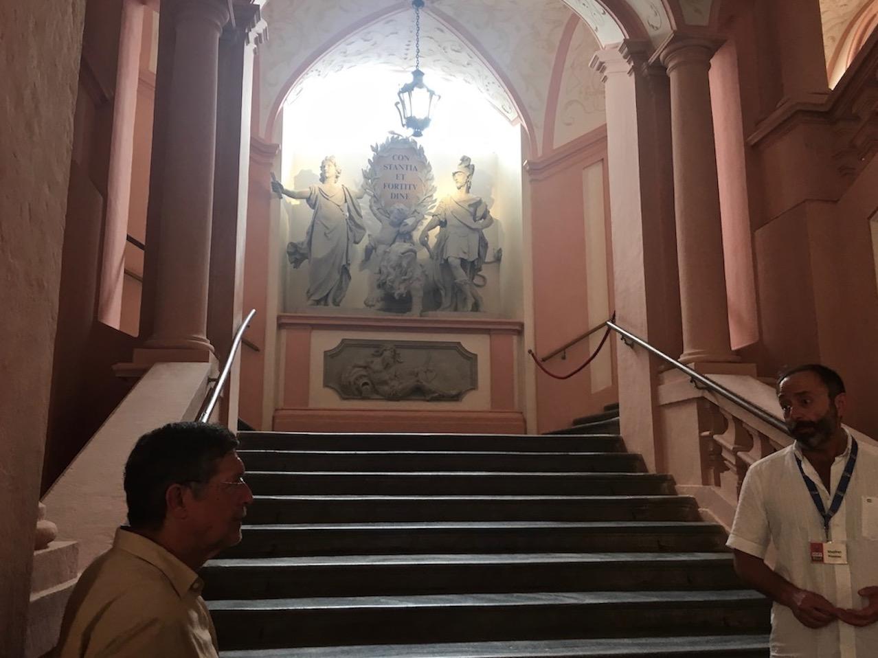 Kloster Melk Benediktinerstift Melk UNESCO-Weltkulturerbe Wachau Österreich Aufgang über die Kaiserstiege im Kloster Melk Österreich