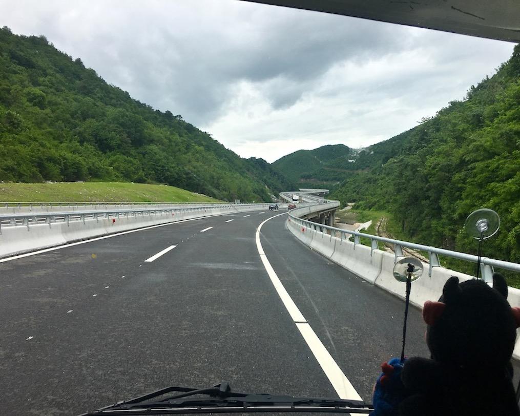 Autobahn Richtung Pristina Kosovo