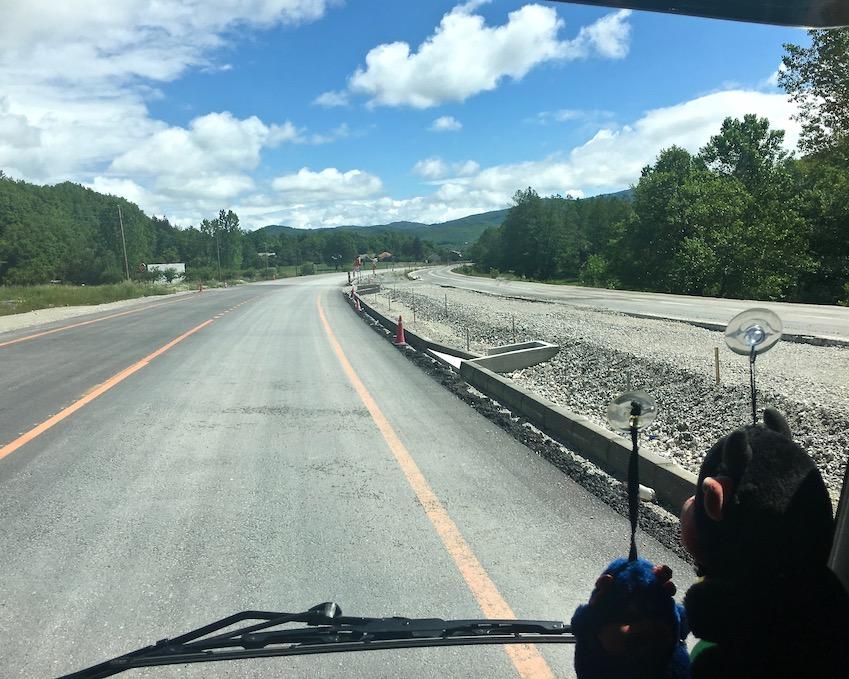 Autobahnbau ab Ohrid Mazedonien