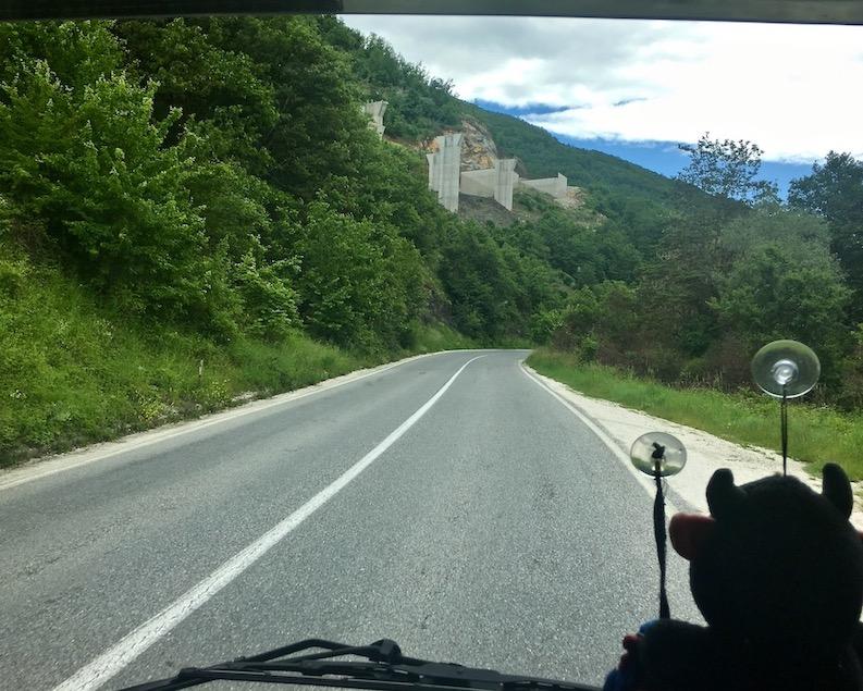 Autobahnbau nach Ohrid Mazedonien