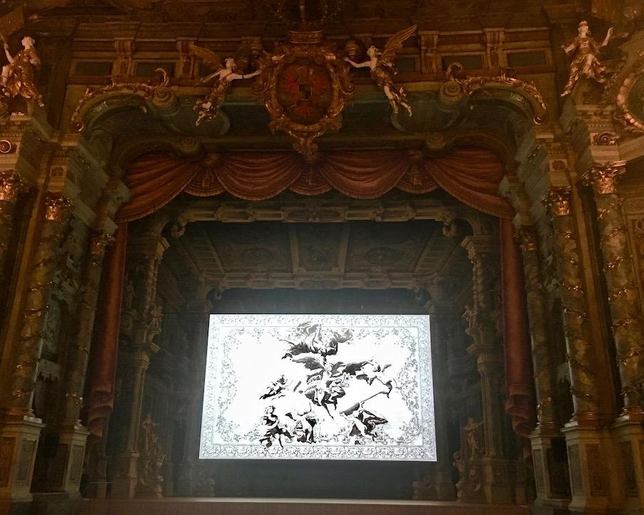 Stadt Bayreuth Altstadt UNESCO-Weltkulturerbe Markgräfliches Opernhaus Bühne des Markgräflichen-Opernhaus Bayreuth Deutschland