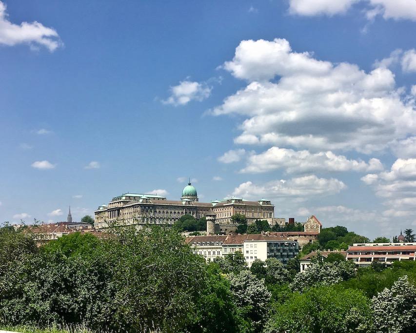 Burgpalst auf dem Burgberg Budapest Ungarn