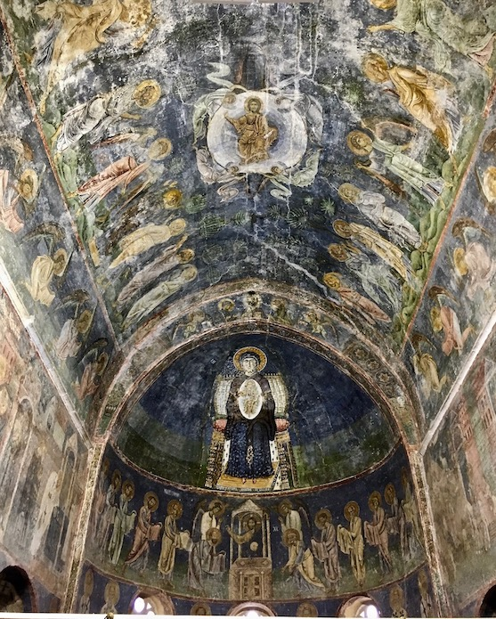 Ohrid Ohridsee Nordmazedonien Deckenfresken in der Sophien-Kathedrale in Ohrid Mazedonien