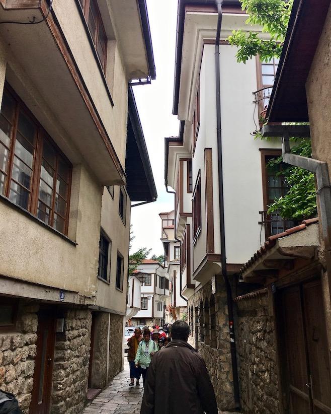Fußgängerzone in Ohrid Mazedonien