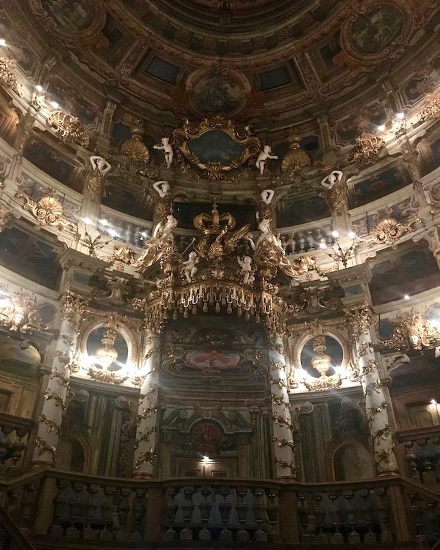 Stadt Bayreuth Altstadt UNESCO-Weltkulturerbe Markgräfliches Opernhaus Fürstenloge im Markgräflichen-Opernhaus Bayreuth Deutschland