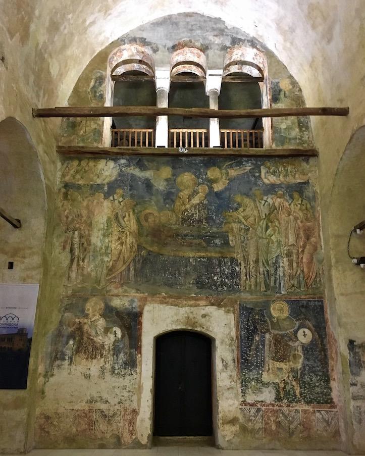 Ohrid Ohridsee Nordmazedonien Fresken in der Sophien-Kathedrale Ohrid Mazedonien