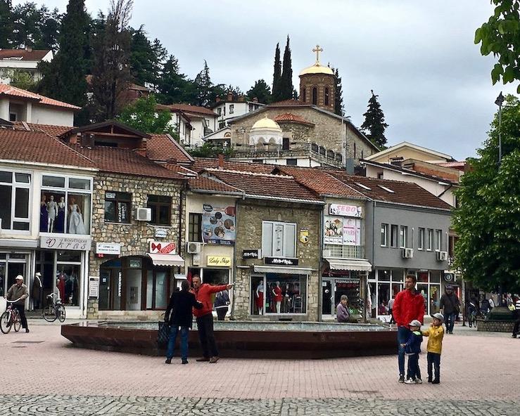 Ohrid Ohridsee Nordmazedonien Fußgängerzone in Ohrid Nordmazedonien