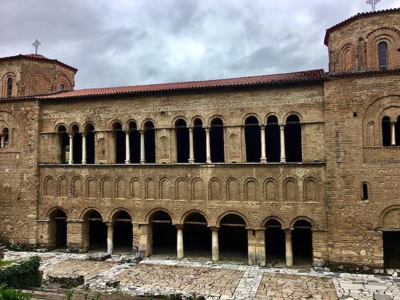 Ohrid Ohridsee Nordmazedonien Hagia Sophia Sophien-Kathedrale in Ohrid Mazedonien