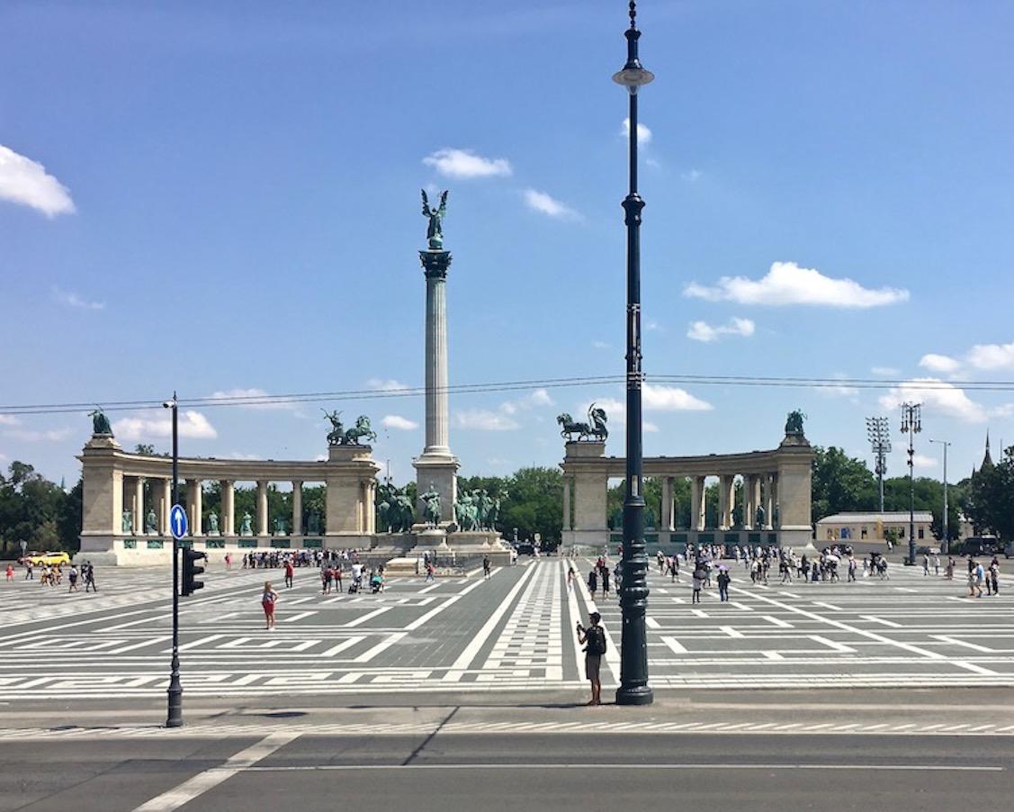 Heldenplatz in Budapest Ungarn