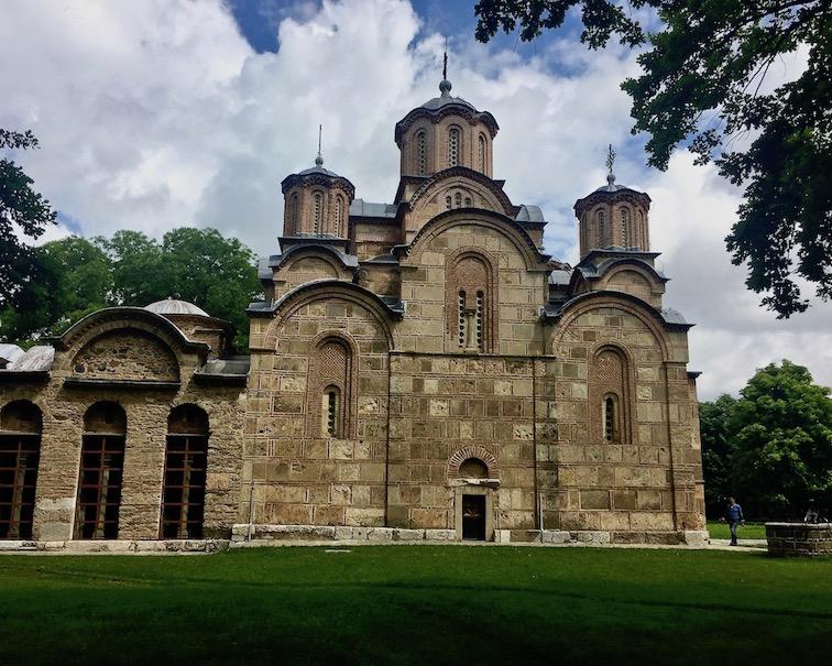 Gracanica Kosovo Kloster Gracanica Monastery UNESCO-Weltkulturerbe Kreuzkuppelkirche des Kloster Gracanica Kosovo