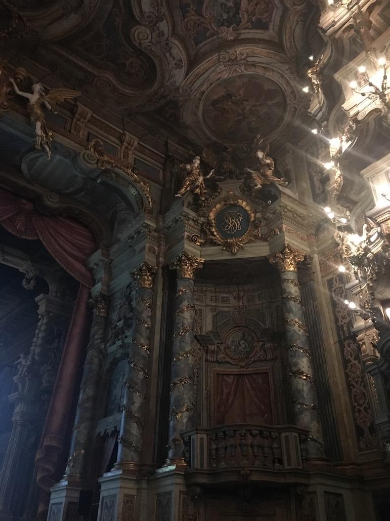 Stadt Bayreuth Altstadt UNESCO-Weltkulturerbe Markgräfliches Opernhaus Loge der Fanfarenbläser Markgäfliches-Opernhaus Bayreuth Deutschland