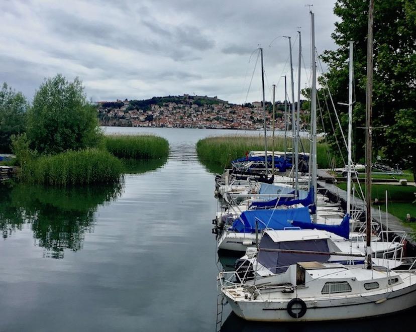 Marina von Ohrid Mazedonien