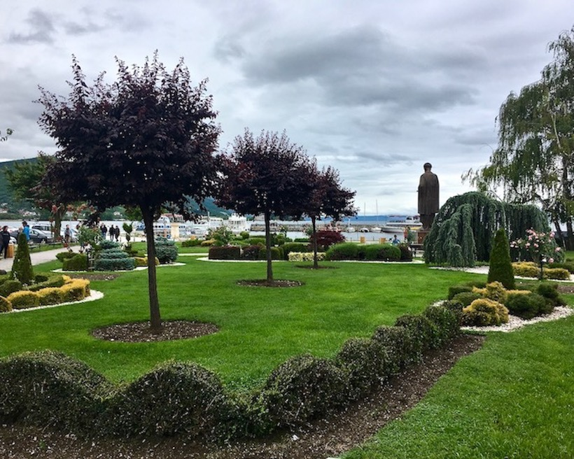 Parkanlagen in Ohrid Mazedonien