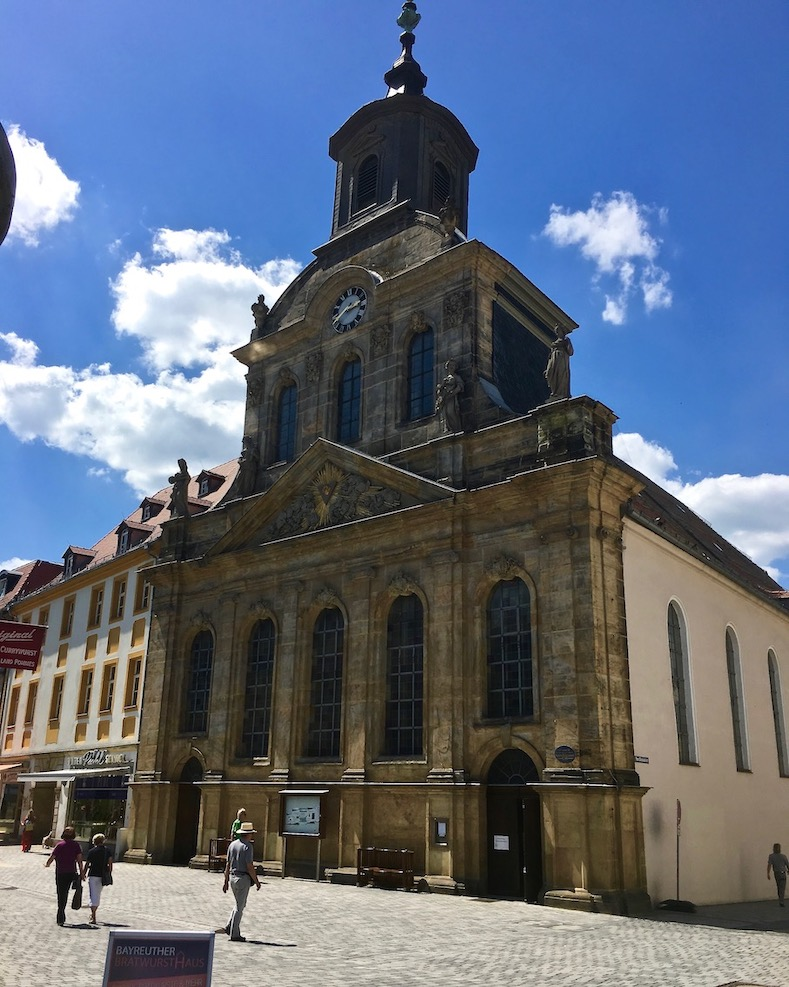 Stadt Bayreuth Altstadt UNESCO-Weltkulturerbe Markgräfliches Opernhaus Spitalkirche Bayreuth Deutschland