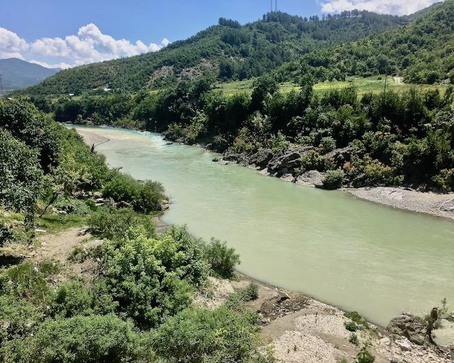 Vjosa-Tal in Albanien