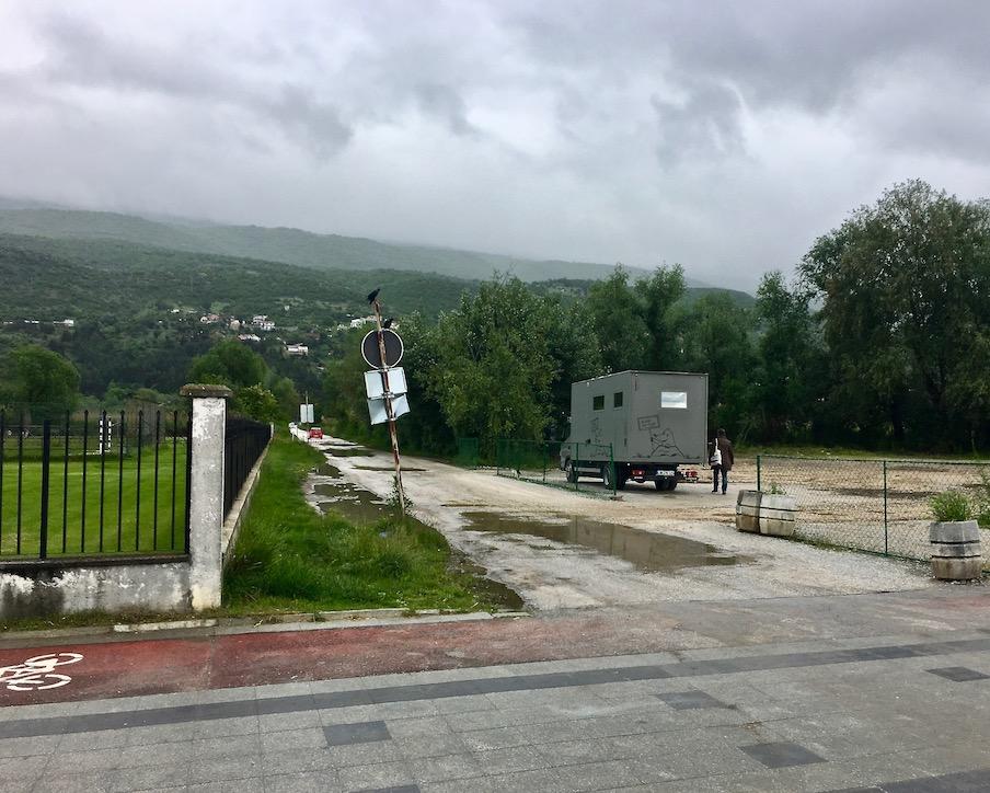 Wohnmobile-Stellplatz am Kaj Makedonija Ohrid Mazedonien