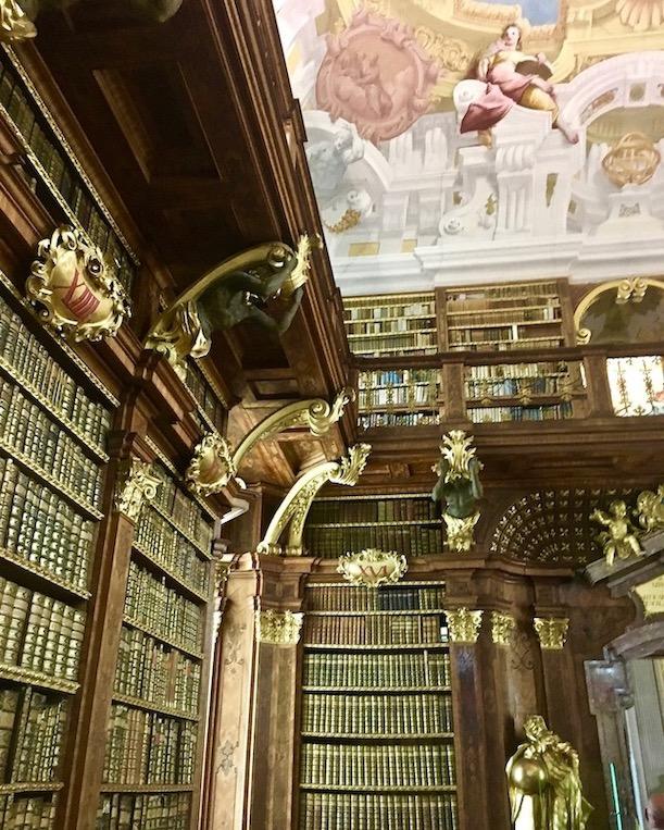 Kloster Melk Benediktinerstift Melk UNESCO-Weltkulturerbe Wachau Österreich Stiftsbibliothek von Kloster Melk Österreich