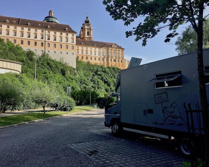 Kloster Melk Benediktinerstift Melk UNESCO-Weltkulturerbe Wachau Österreich mole-on-tour Wohnmobile-Stellplatz beim Kloster Melk Österreich