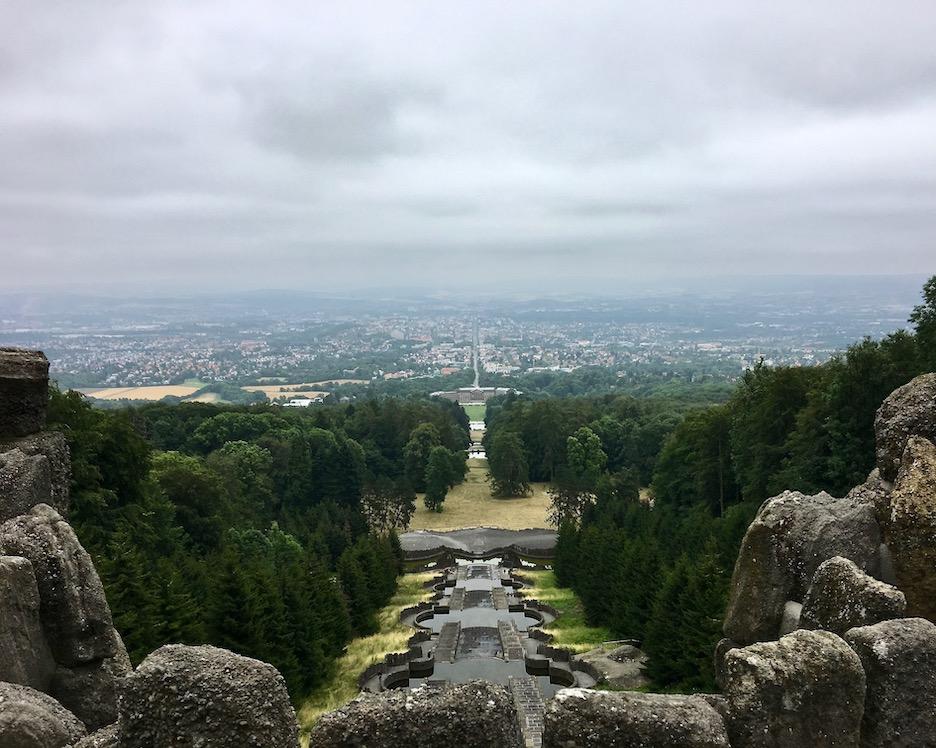 Blick vom Herkules Bergpark Wilhelmshöhe auf Kassel