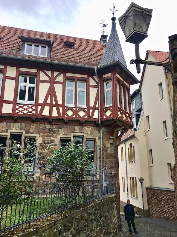 Fritzlar Deutschland Fachwerkhaus mit Eckerker