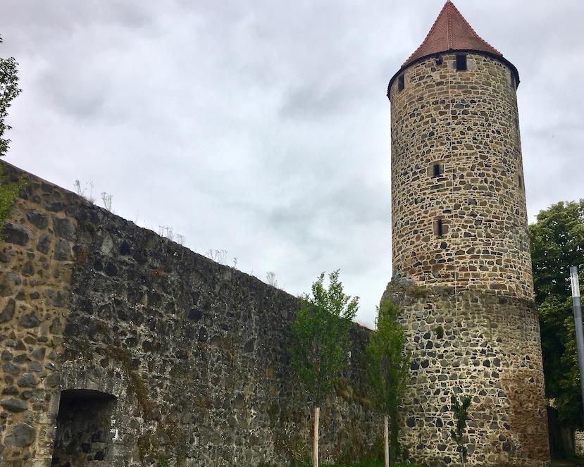 Fritzlar Deutschland Rosenturm an der Stadtmauer