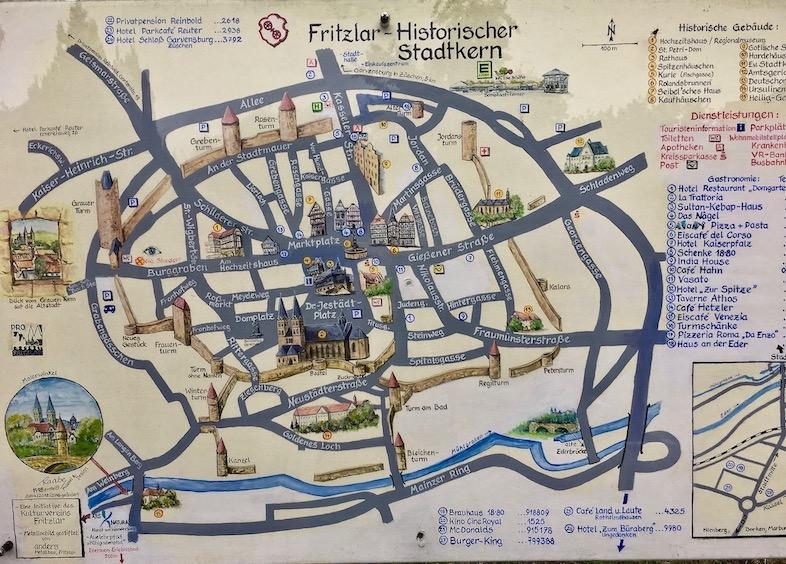 Fritzlar Deutschland Stadtplan Historischer Stadtkern