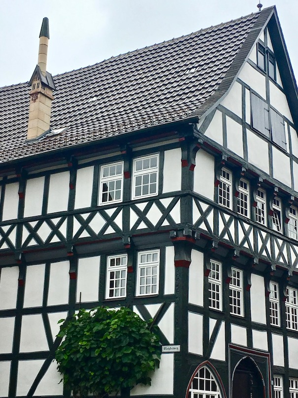 Fritzlar Deutschland restaurierte Fachwerkhäuser