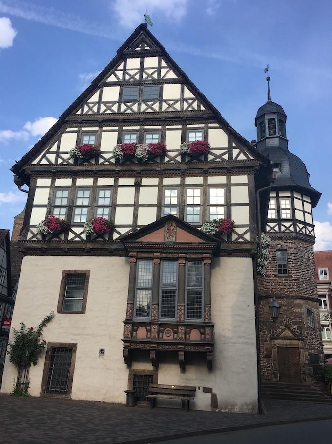 Höxter Deutschland Weserrenaissance-Rathaus mit Erker