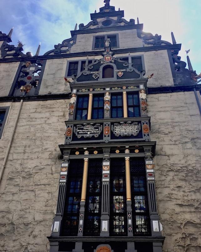 Hann.Münden Deutschland Erker des Renaissance-Rathaus