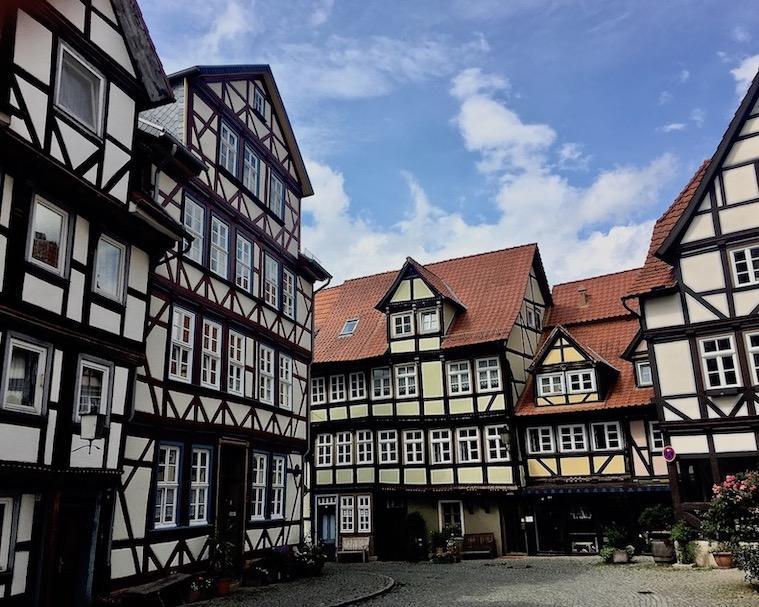 Hann.Münden Deutschland Fachwerkhäuser in Historischer Altstadt