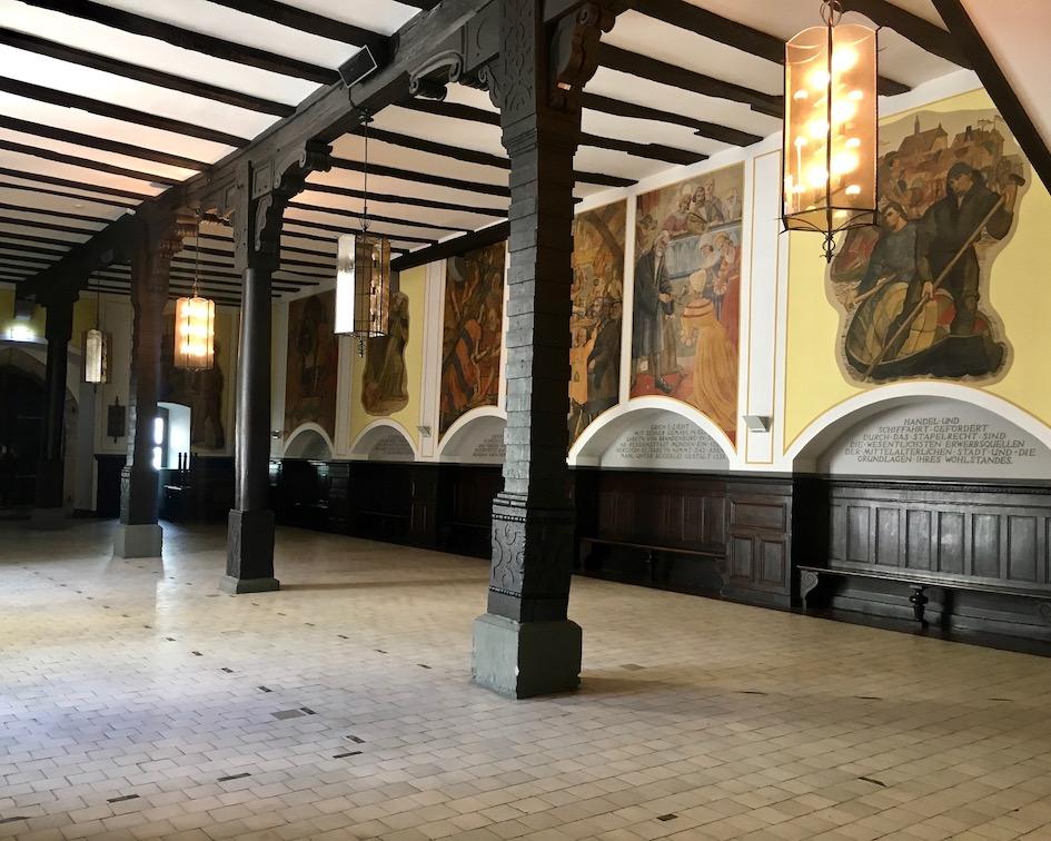 Hann.Münden Deutschland Rathaushalle gotischer Saalbau