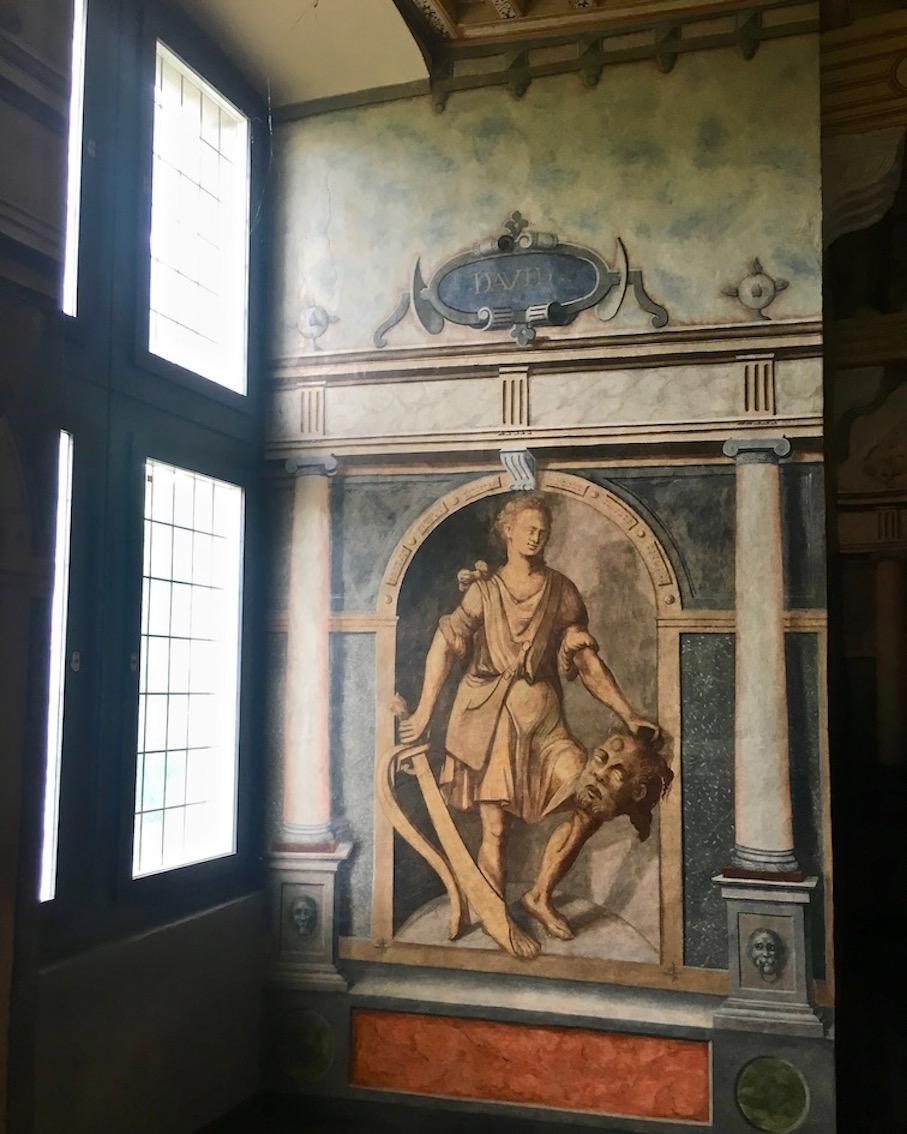 Hann.Münden Deutschland Wandmalerei im Renaissance-Gemach Bildnis des David