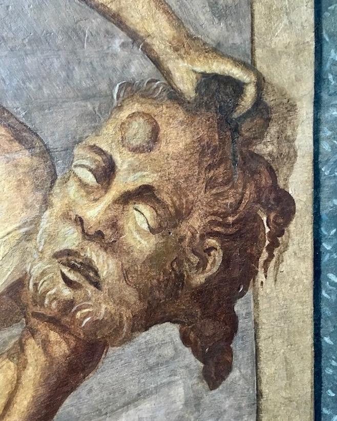 Hann.Münden Deutschland Wandmalerei im Renaissance-Gemach Detail