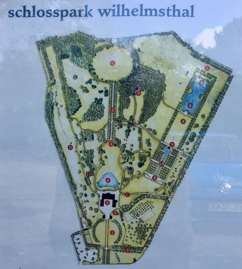Schloss Wilhelmsthal Calden Übersichtsplan