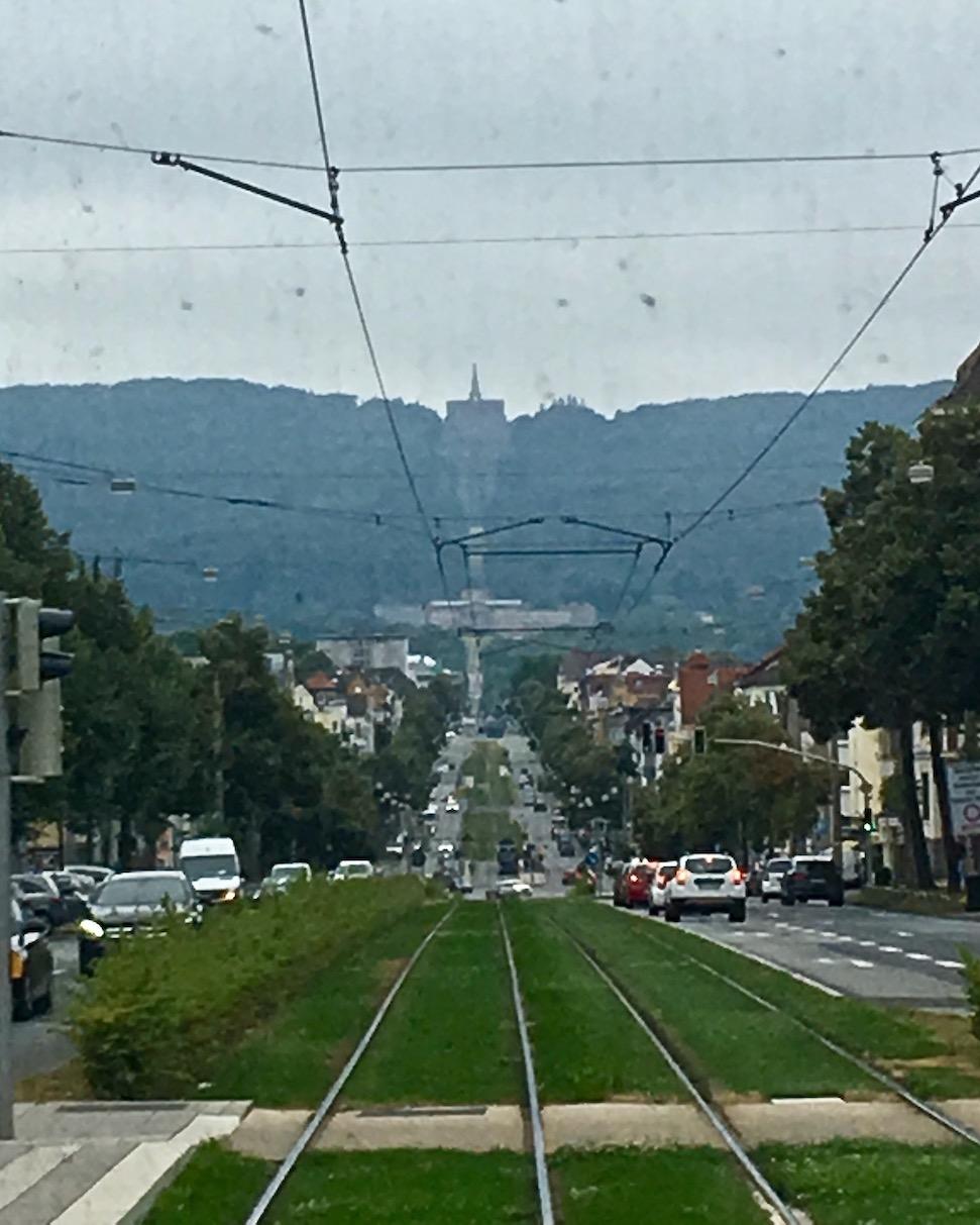 Straßenbahn Kassel zum Herkules Bergpark Wilhelmshöhe