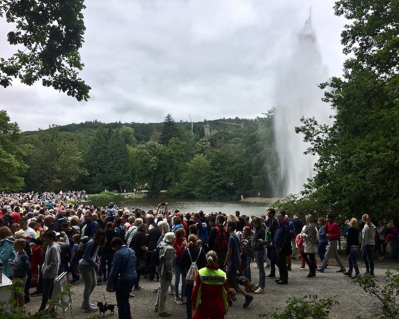 Wasserspiele Bergpark Wilhelmshöhe Aufstieg der Fontäne