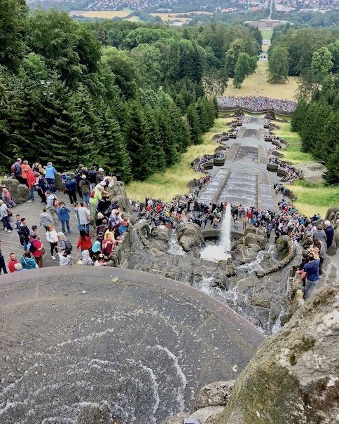 Wasserspiele Bergpark Wilhelmshöhe beginnen