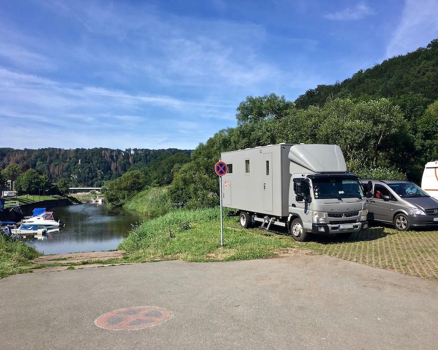 Wohnmobilstellplatz mole-on-tour Bad Karlshafen Deutschland