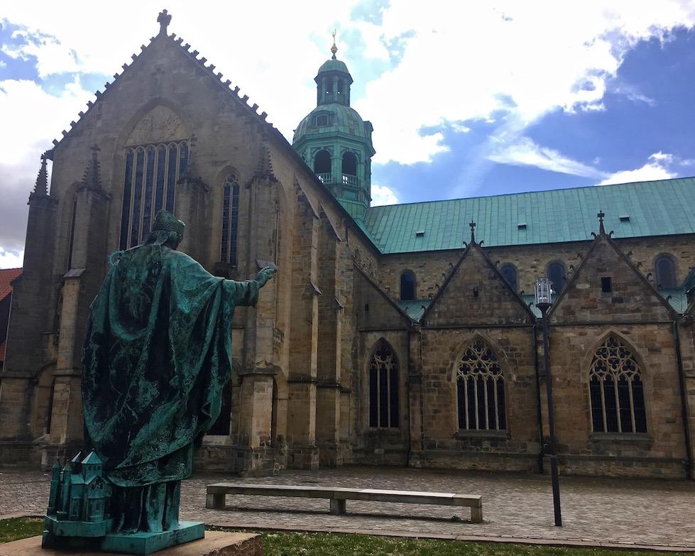 Hildesheimer Dom Weltkulturerbe Nordseite Hildesheim Deutschland