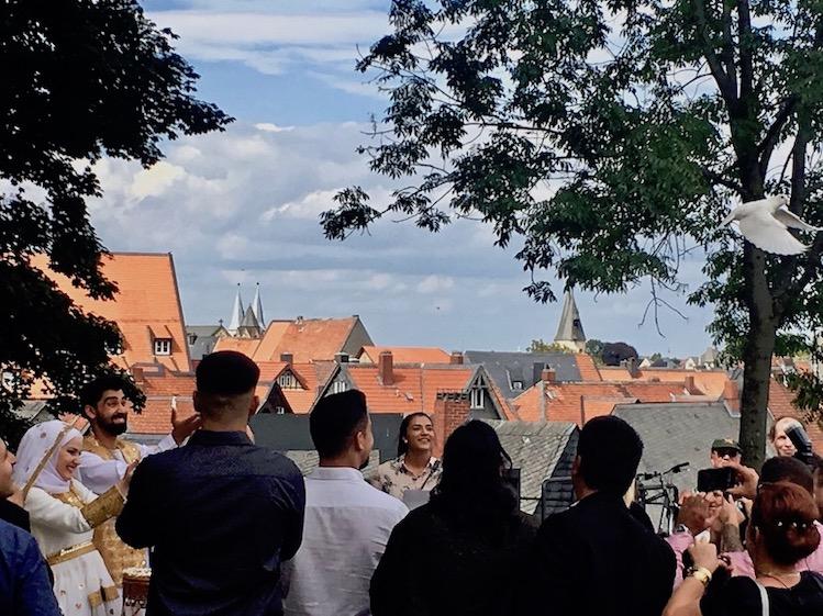 Hochzeit Kaiserpfalz Taubenflug