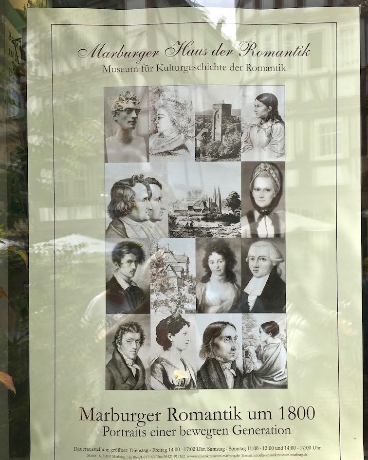 Marburg an der Lahn Plakat der Marburger-Romantiker