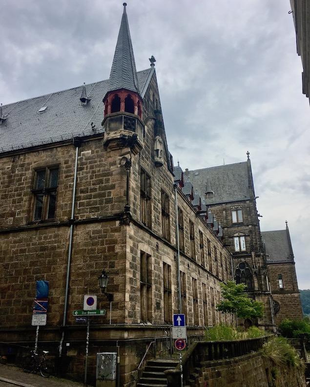 Marburg an der Lahn Südseite der alten Universität