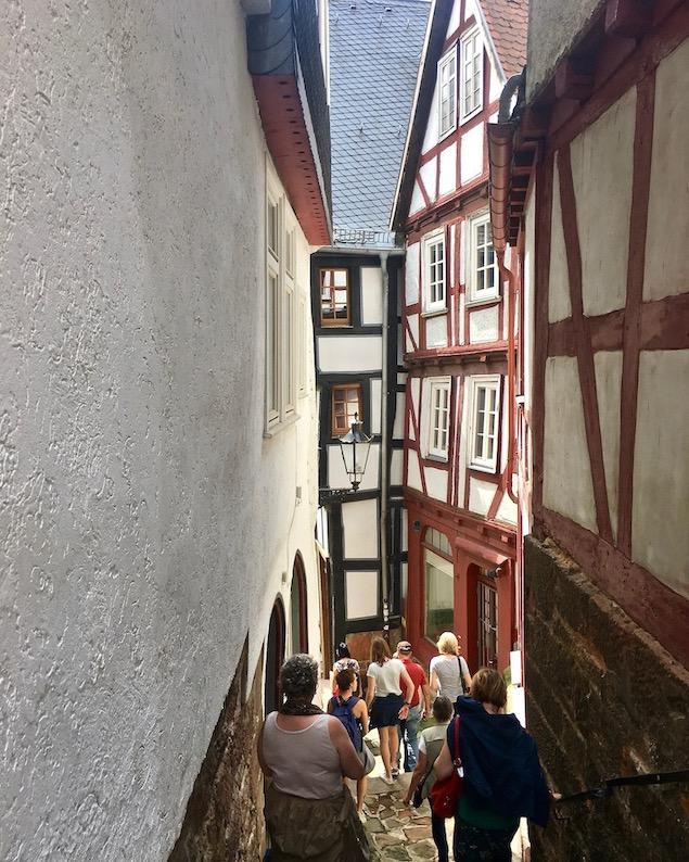 Marburg an der Lahn schmale Gassen in der Altstadt