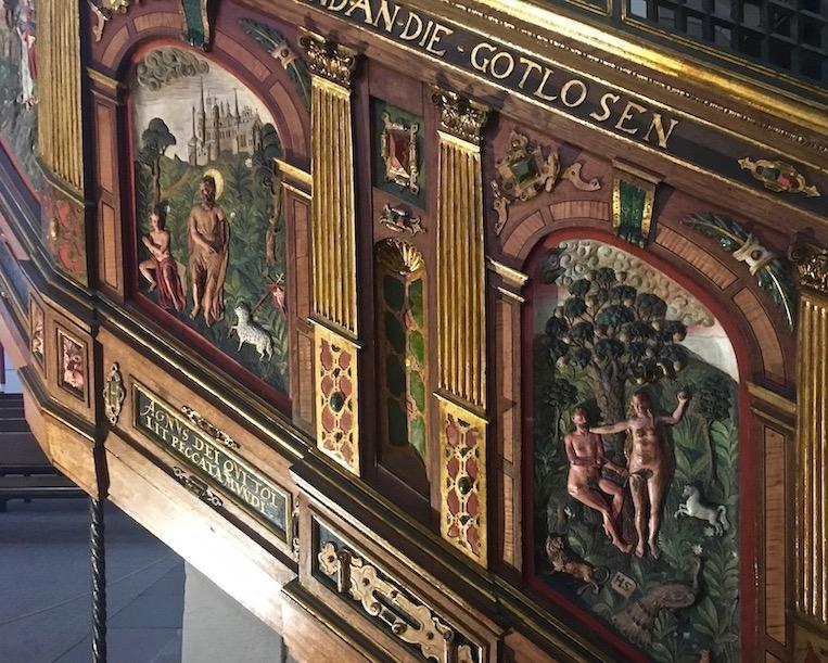 Marktkirche Goslar Deutschland Detail Renaissance Kanzel