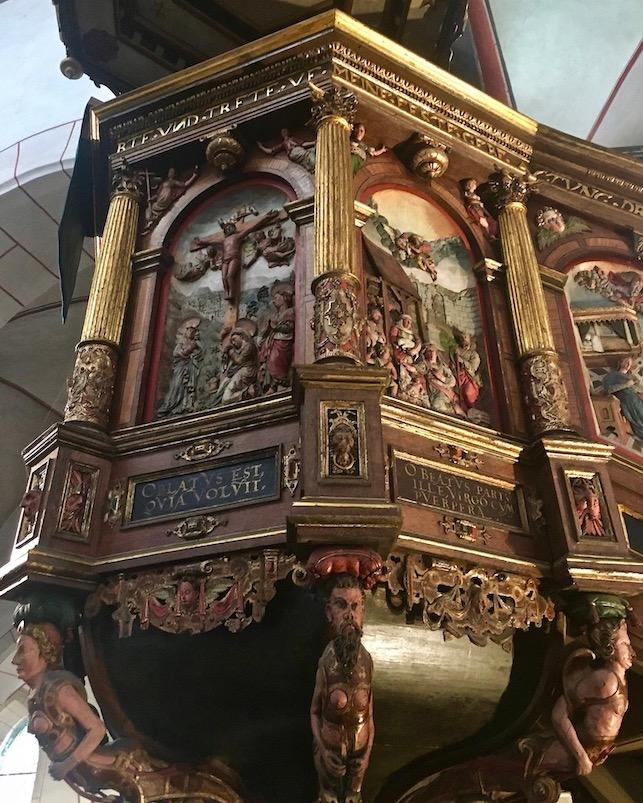Marktkirche St.Cosmas und Damian Goslar Deutschland Detail Renaissance Kanzel
